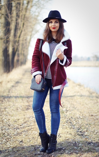 a piece of anna blogger jacket hat jeans shoes cardigan