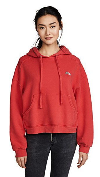 hoodie red sweater