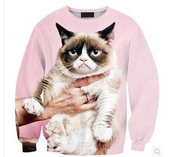 sweater pink grumpy cat cats jumper animals