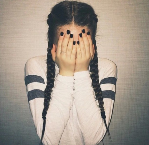 top haut white black fashion sweater shirt girl white shirt weheartit pretty pretty little liars the vampire diaries teen wolf long sleeves instagram indie indie boho grunge tumblr tumblr girl tumblr outfit braid stripes basic cute cool trendy white top