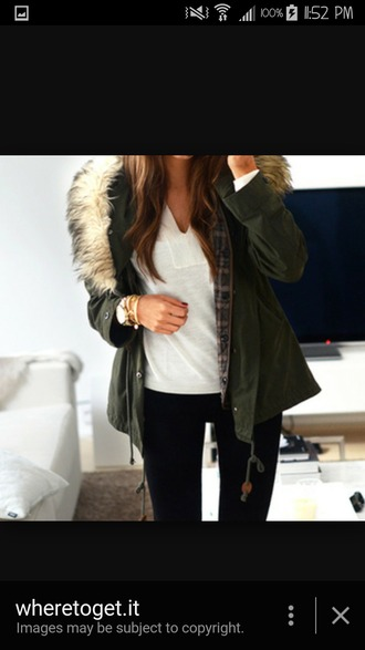 sweater army green jacket