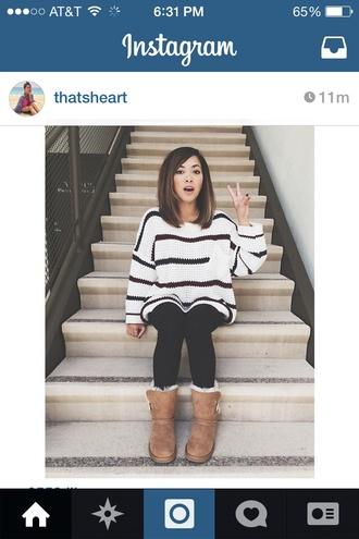 stripes cute thatsheart youtube fall sweater sweater weather oversized sweater oversized black and white b&w sweater