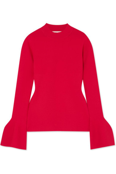 top knit red