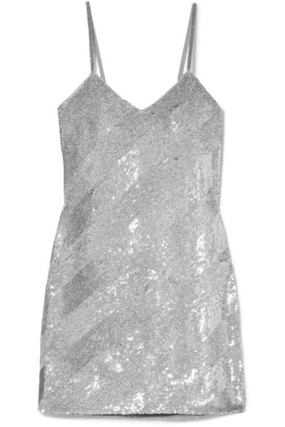 Ashish dress mini dress mini silver silk
