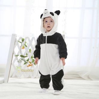 pajamas panda baby onesie kids fashion