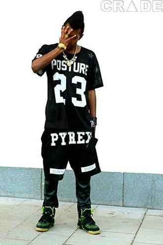 t-shirt posture 23 pyrex fashion nigga