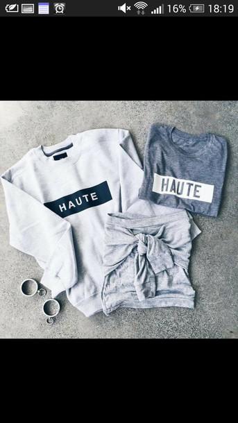 sweater haute top shirt t-shirt outfit