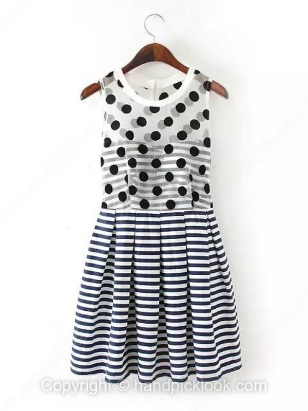 sleeveless dress striped dress clothes dress