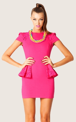 Cha ching dress hot pink