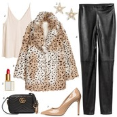 dailystylefinds,blogger,shoes,bag,jacket,dress,jewels,cardigan,winter outfits,winter coat,faux fur coat,leather leggings,pumps,gucci bag