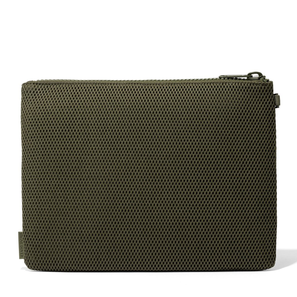 Parker Pouch in Dark Moss, Extra Large