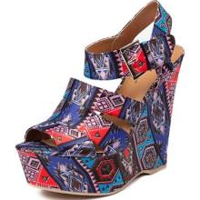 Women's Shi by Journeys Poshe Wedge Multi