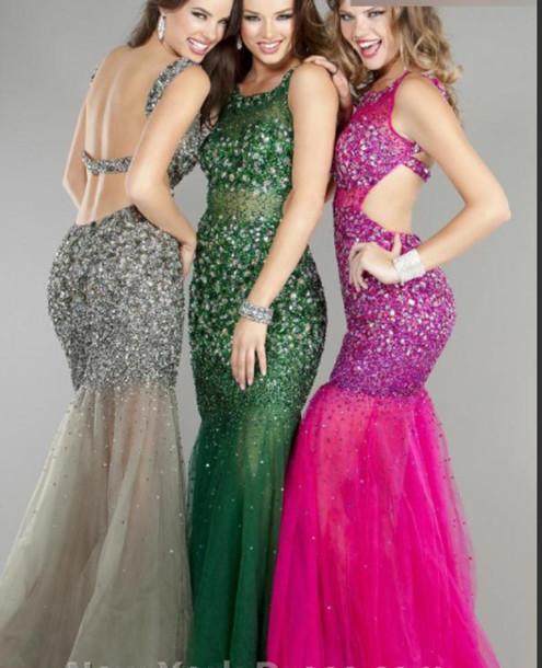 crystal dress fashion dress red carpet