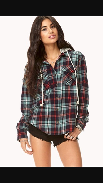shirt flannel plaid blouse green blue white winter summer autumn spring cute girly sporty amazing great cool love
