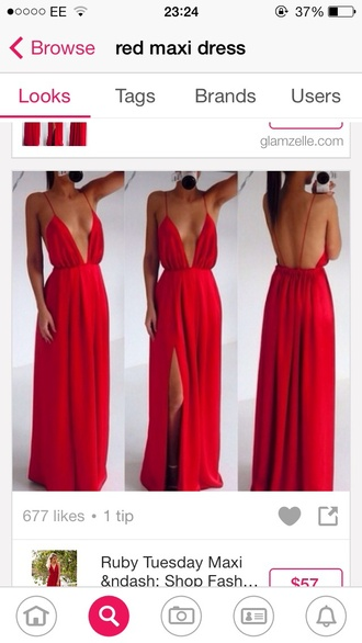 dress red dress maxi dress prom dress red prom dresses