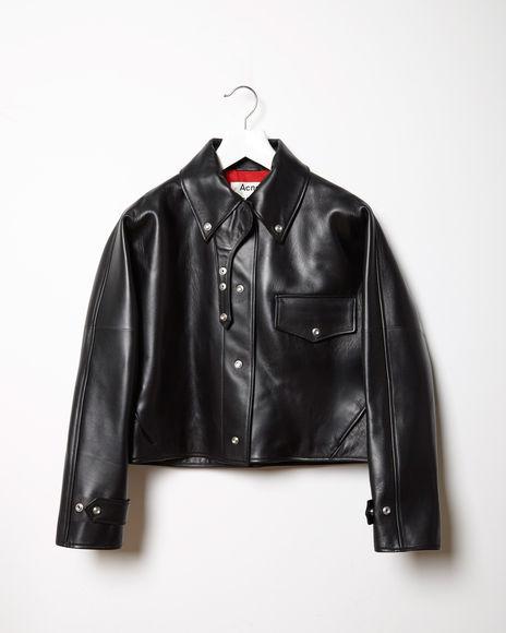 ACNE STUDIOS | Chrismo Leather Jacket | Shop at La Garçonne