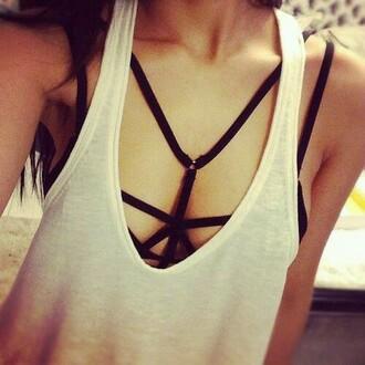 top caged bralette black crop top crop tops bra