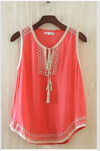 shirt summer outfits top orange top orange blouse fashion cute top