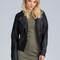Ripple effect faux leather jacket black - gojane.com