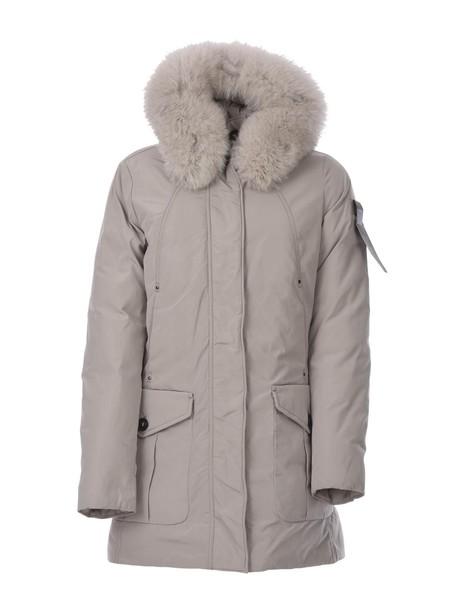 Peuterey parka fur beige coat