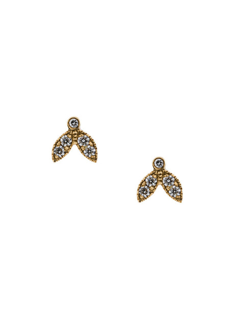 Yvonne Léon women gold yellow grey metallic jewels