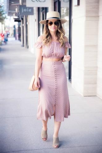 skirt midi skirt mules crop tops blogger blogger style off the shoulder crossbody bag