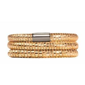 Amazon.com: Endless Triple Gold Reptile Bracelet w/Steel Lock, 1001-57 (7.5 Inch): Jewelry