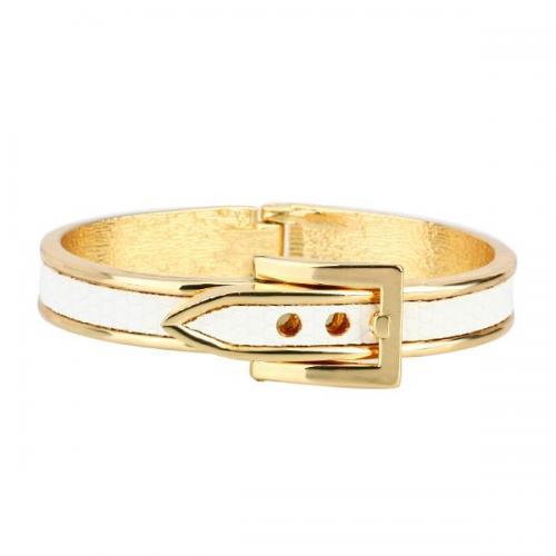 ARINNA 18K Yellow Gold GP 4 Color Belt Print Fashion Bangle Bracelet   eBay