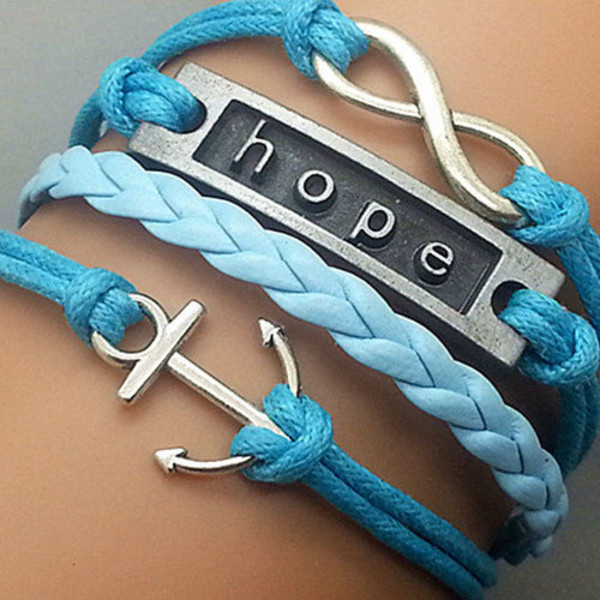 jewels bracelets blue hope pendant