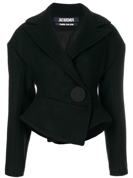 Jacquemus jacket women cotton black wool
