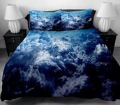 pajamas,bedding,sheets,pillow,bedclothes,clouds,where did u get that,doona,storm,sheet,blanket,bedroom,sky,hipster,indie,top,home accessory,sky blue,cloud pattern,sky print,sky pattern,blue clouds comforter,duvet,blue,tumblr,blue bed,beautiful,pretty,white,tumblr bedroom,blue bed bed set comforter sheets blanket pillows,home decor,tumblr room,room accessoires,rooms,blue bedding,lamp,classy,black,cloud bed,blue cloud pillow