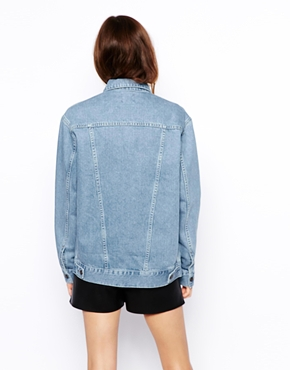 ASOS Tall | ASOS TALL Exclusive Denim Jacket In Oversized Boyfriend Fit at ASOS