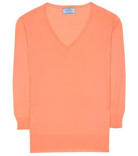 Prada sweater wool sweater wool pink