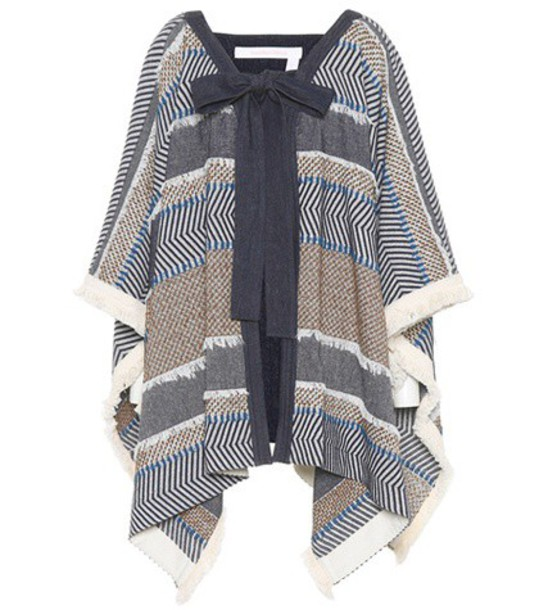 See by Chloe poncho cotton top