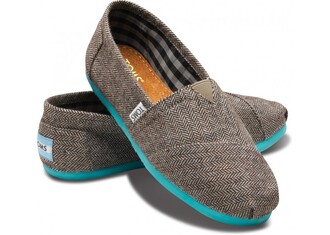 shoes toms gray turquoise