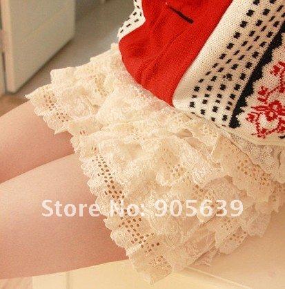 Free shipping summer 5 layers flower shorts pants fashion shorts culottes women short trouser lady's shorts skirts