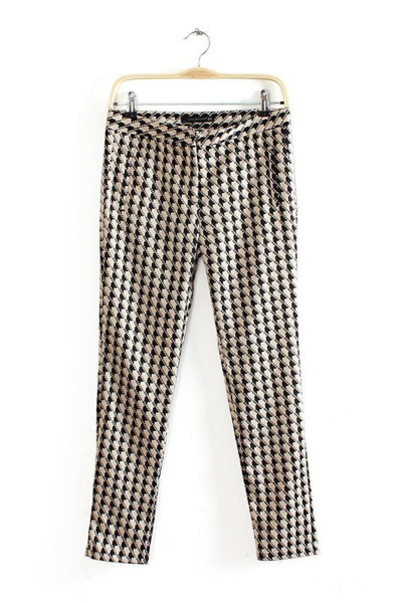 Autumn & Winter New Section Swallow Grid Casual Pants,Cheap in Wendybox.com