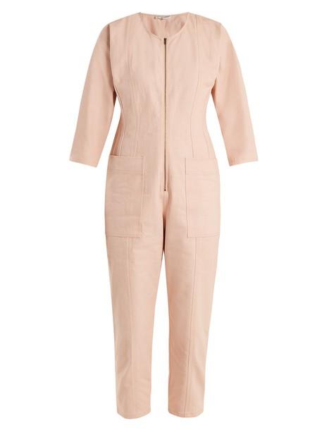 Apiece Apart jumpsuit denim jumpsuit denim light pink light pink