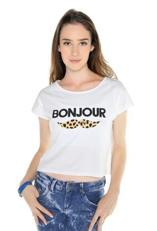 Emme : t shirt bonjour bigode