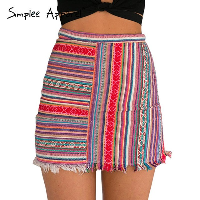 Aliexpress.com : Buy Simplee Apparel vintage high waist women mini ...