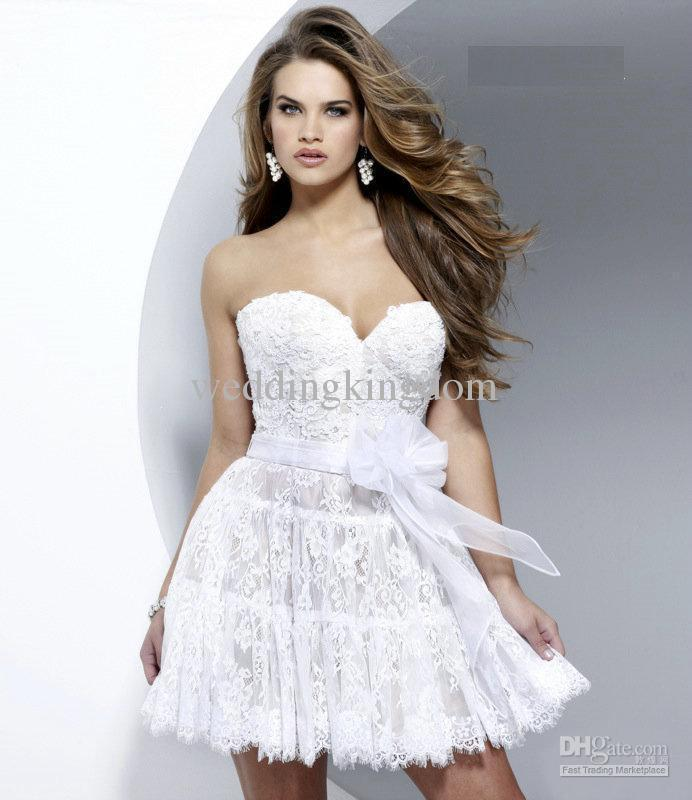Wholesale 2012 prom dress 2241 strapless lace tiered / layers short bustier cocktail dress, free shipping, $107.52~123.2/piece