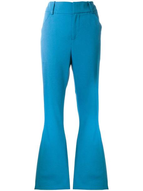MARNI women blue wool pants