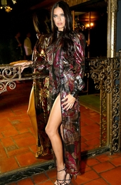 dress,adriana lima,gown,shoes,high heels,sandals,sandal heels,summer dress,marc jacobs