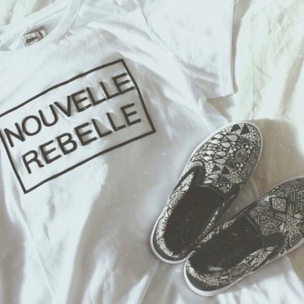 t-shirt shoes