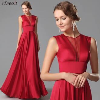 dress edressit fashion red evening dress