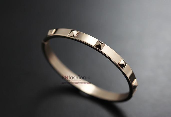 Rose gold studded bangle by mir