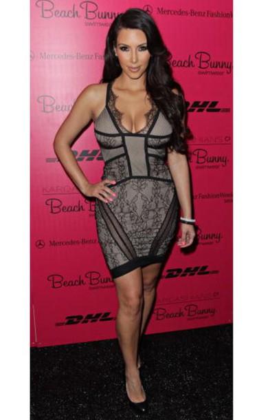 Classy black lace dress