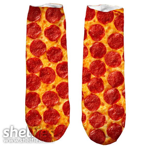 socks pizza food