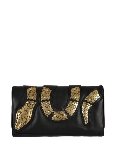 snake embellished bag shoulder bag black