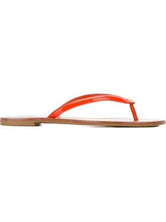 sandals flat sandals yellow orange shoes